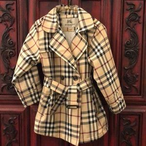 Burberry plaid trench for junior size XL